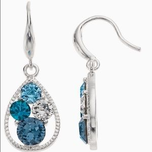 Brilliance Swarovski crystal Dangle Blue earrings